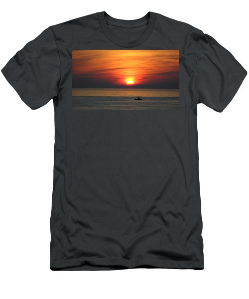 Sunrise Over Gyeng-po Sea Men's T-Shirt (Slim Fit) by Kume Bryant