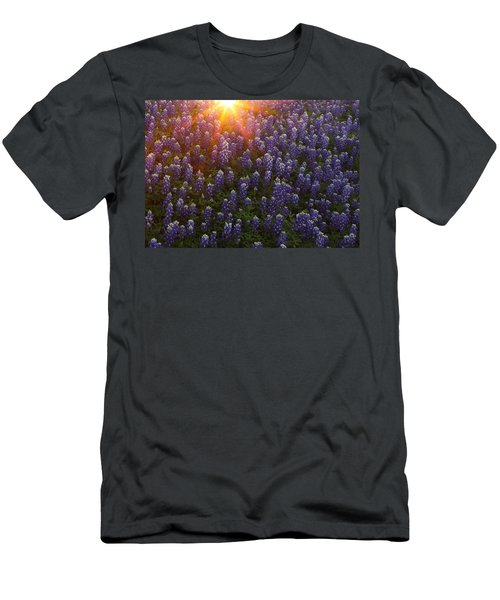 Sunset Over Bluebonnets Men's T-Shirt (Athletic Fit)