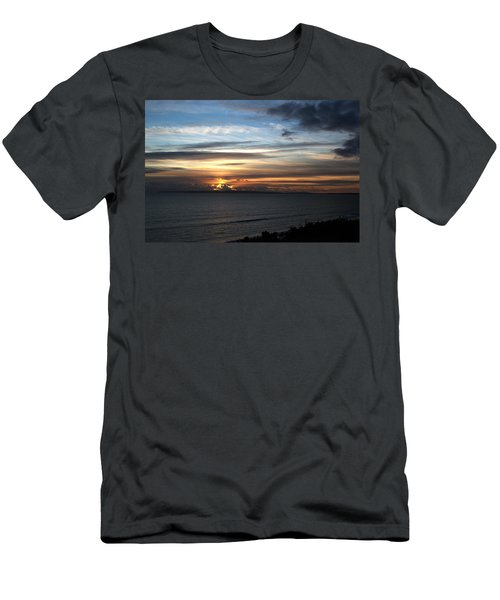 Sunset Over Poole Bay Men's T-Shirt (Athletic Fit)