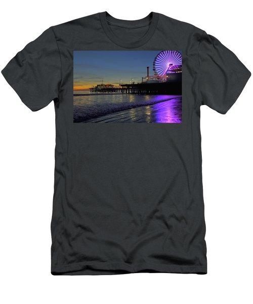 Sunset Purple Men's T-Shirt (Athletic Fit)