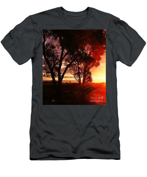 Sunset Through The Trees Men's T-Shirt (Athletic Fit)