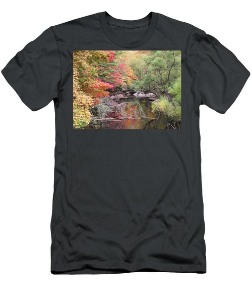 Tanasee Creek In The Fall Men's T-Shirt (Athletic Fit)