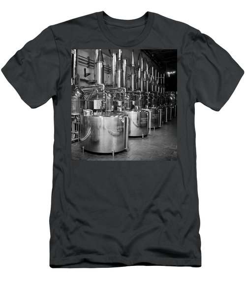 Men's T-Shirt (Slim Fit) featuring the photograph Tequilera S.s. Distillation Tanks by Lynn Palmer
