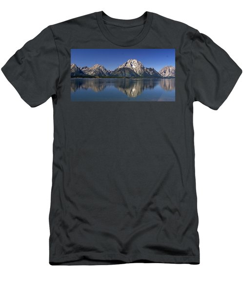 Men's T-Shirt (Slim Fit) featuring the photograph Teton Panoramic View by Marty Koch