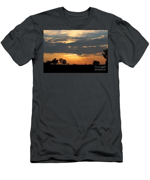Men's T-Shirt (Slim Fit) featuring the photograph Texas Sized Sunset by Kathy  White