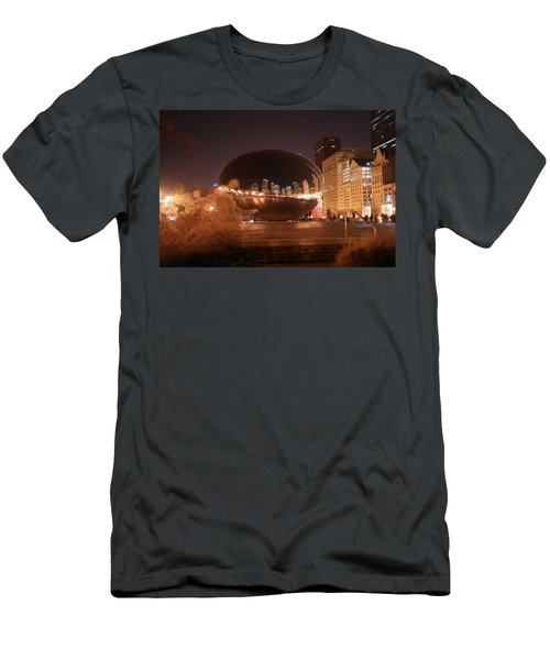The Bean On A Winter Night Men's T-Shirt (Athletic Fit)