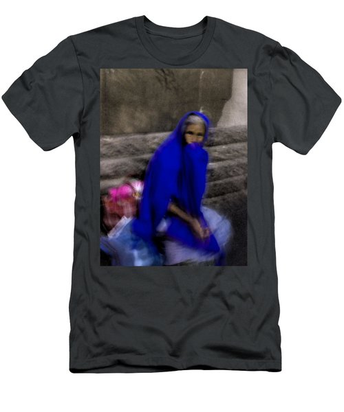 Men's T-Shirt (Slim Fit) featuring the photograph The Blue Shawl by Lynn Palmer