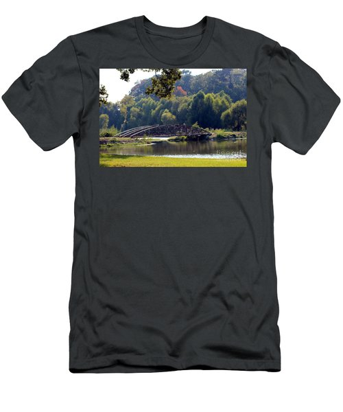 Men's T-Shirt (Slim Fit) featuring the photograph The Bridge by Kathy  White