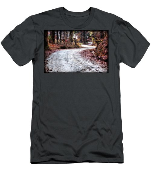 Men's T-Shirt (Slim Fit) featuring the photograph The Broken Road by Lynne Jenkins