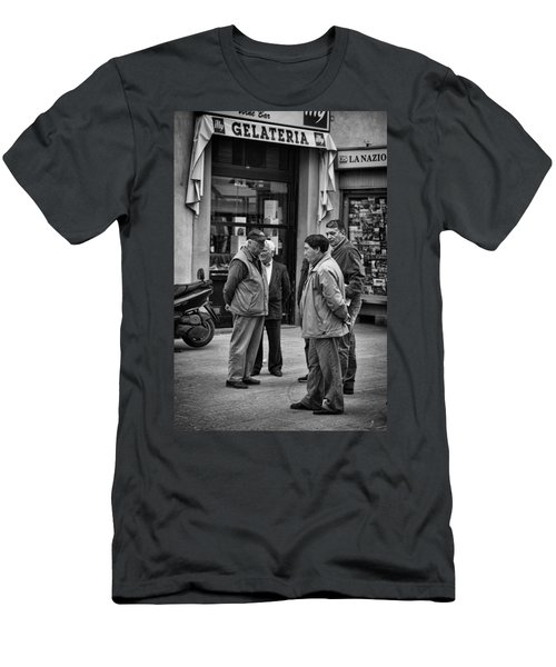Men's T-Shirt (Slim Fit) featuring the photograph The Conference by Hugh Smith