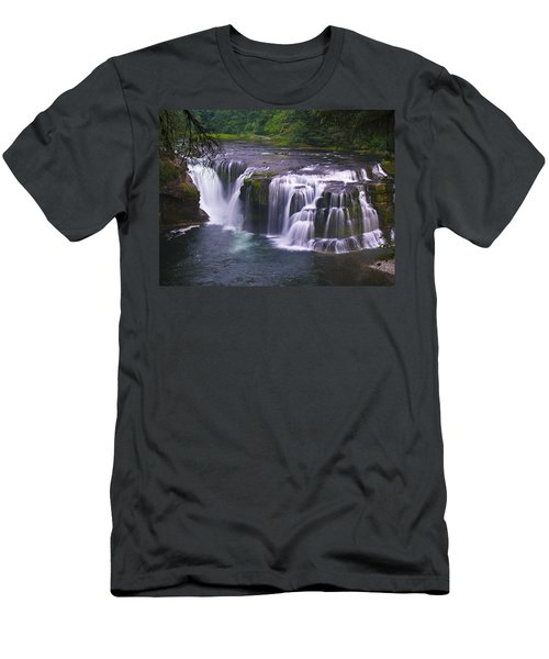 Men's T-Shirt (Slim Fit) featuring the photograph The Falls by David Gleeson