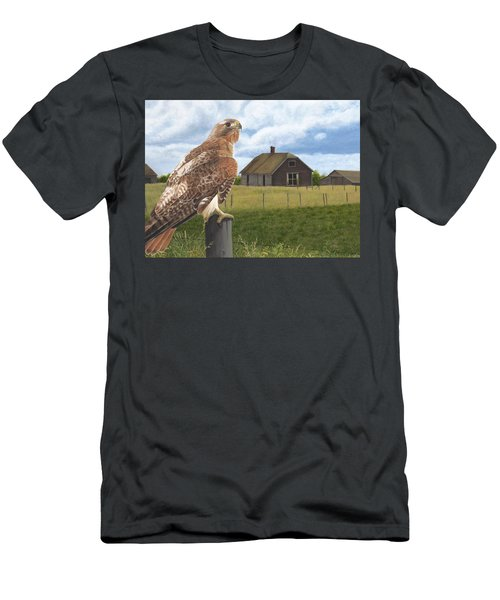 Men's T-Shirt (Athletic Fit) featuring the painting The Grounds Keeper by Tammy Taylor