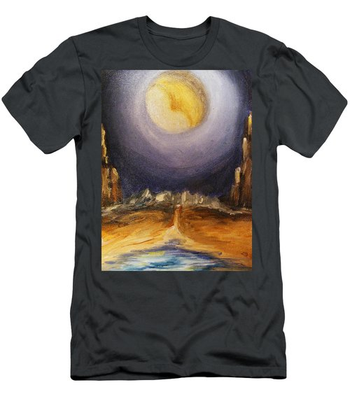 the Moon Men's T-Shirt (Slim Fit) by Karen  Ferrand Carroll