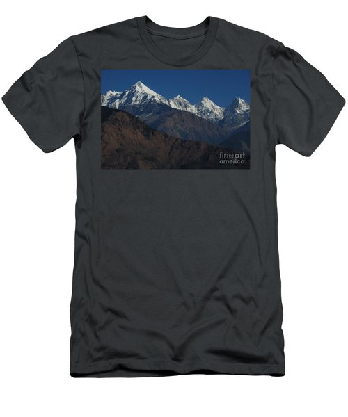 Men's T-Shirt (Slim Fit) featuring the photograph The Panchchuli Range by Fotosas Photography