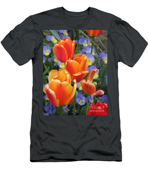 The Secret Life Of Tulips - 2 Men's T-Shirt (Slim Fit) by Rory Sagner