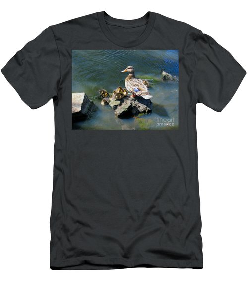 The Swimming Lesson Men's T-Shirt (Slim Fit) by Rory Sagner