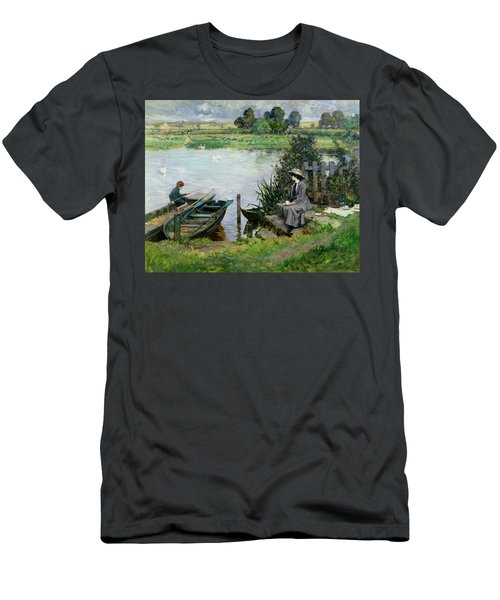 The Thames At Benson Men's T-Shirt (Athletic Fit)