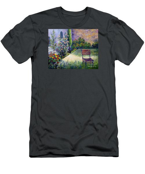 Men's T-Shirt (Slim Fit) featuring the painting The Unseen Guest by Lou Ann Bagnall