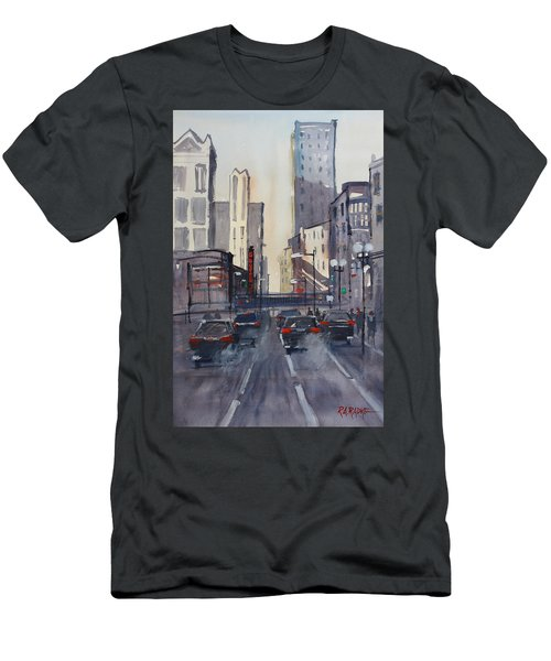 Theatre District - Chicago Men's T-Shirt (Slim Fit) by Ryan Radke