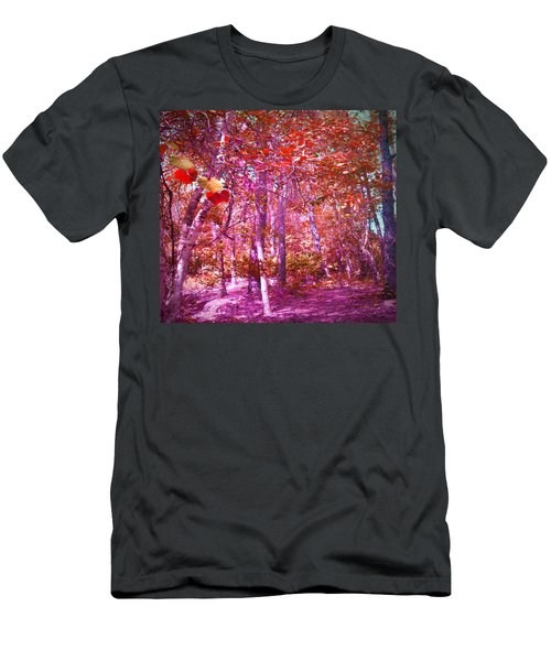 Men's T-Shirt (Slim Fit) featuring the photograph Thicket In Color by George Pedro