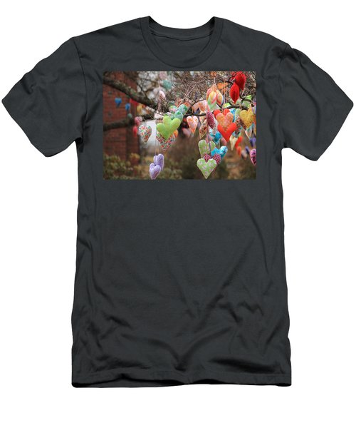 Tree Hearts Men's T-Shirt (Athletic Fit)