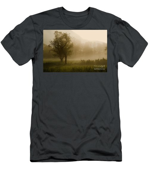 Trees And Fog Men's T-Shirt (Athletic Fit)