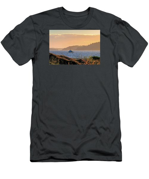 Men's T-Shirt (Slim Fit) featuring the photograph Twilight Tug -chambers Bay Golf Course by Chris Anderson
