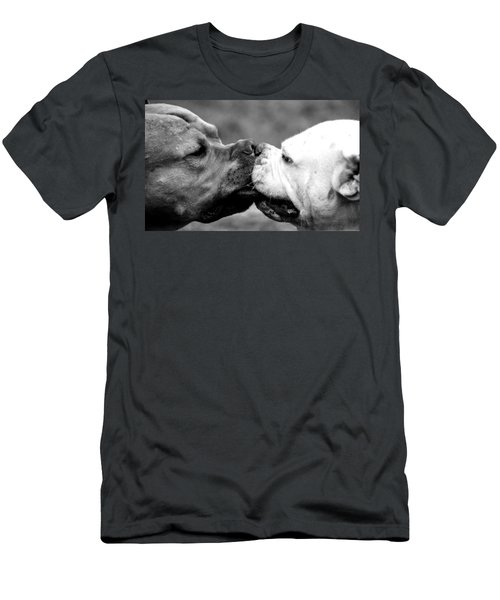 Two Dogs Kissing Men's T-Shirt (Athletic Fit)
