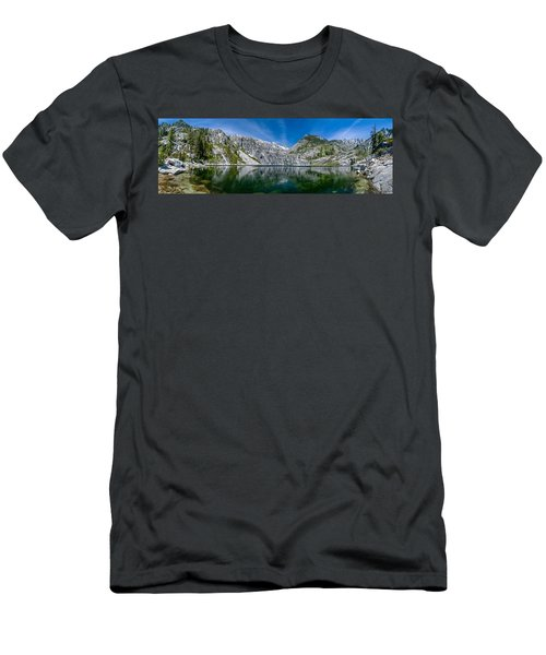 Upper Canyon Creek Lake Panorama Men's T-Shirt (Athletic Fit)