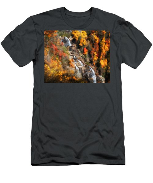 Upper Whitewater Falls Men's T-Shirt (Athletic Fit)
