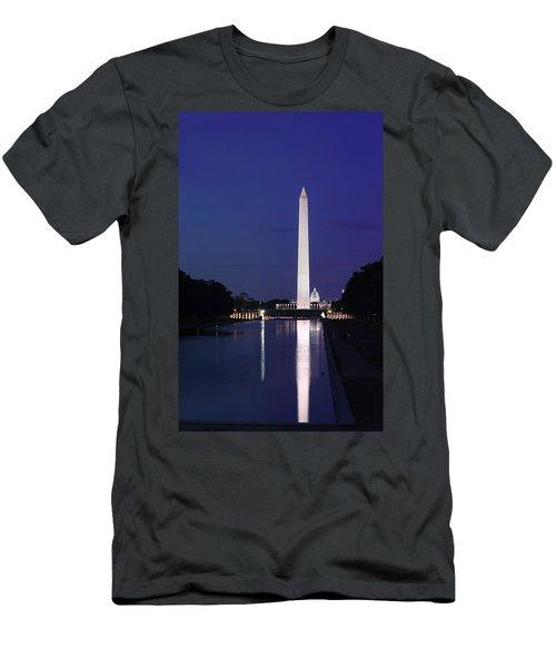 Washington Monument At Sunset Men's T-Shirt (Athletic Fit)
