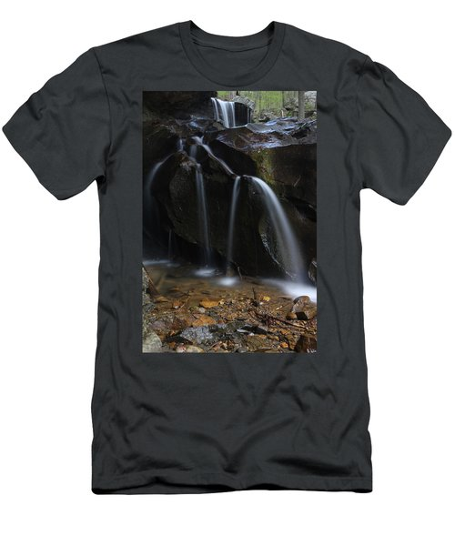 Waterfall On Emory Gap Branch Men's T-Shirt (Athletic Fit)