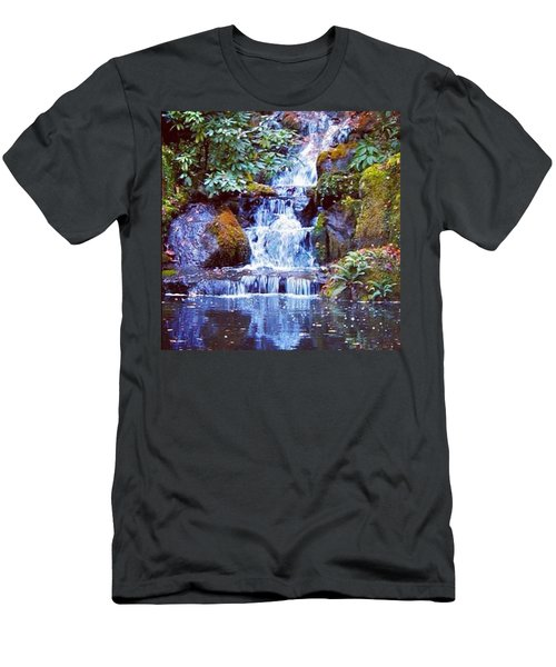 Waterfall - Portland Japanese Garden Portland Or Men's T-Shirt (Athletic Fit)
