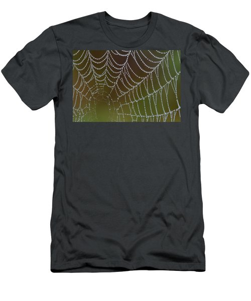 Web With Dew Men's T-Shirt (Athletic Fit)