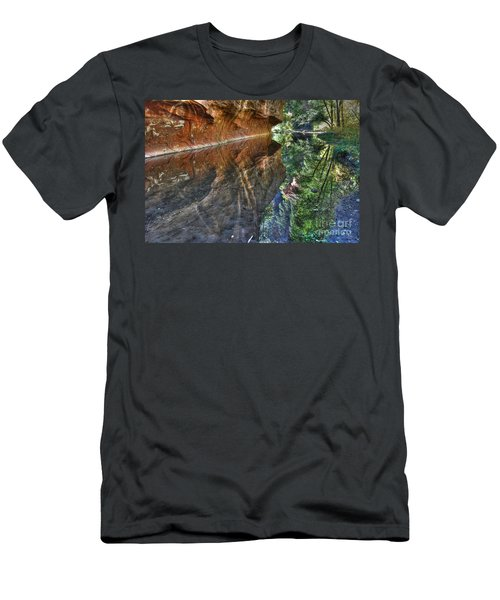 Men's T-Shirt (Slim Fit) featuring the photograph West Fork Reflection by Tam Ryan