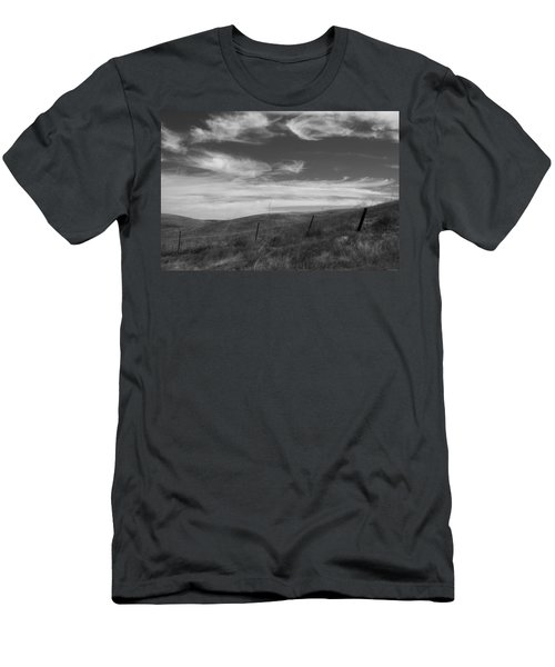Men's T-Shirt (Slim Fit) featuring the photograph Whipping Up The Hillside by Kathleen Grace
