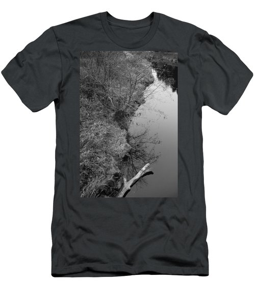 Men's T-Shirt (Slim Fit) featuring the photograph White Branch Riverside  by Kathleen Grace