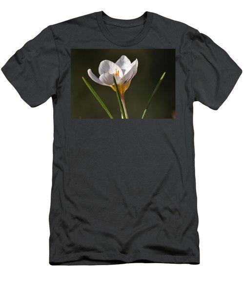 White Crocus Men's T-Shirt (Athletic Fit)