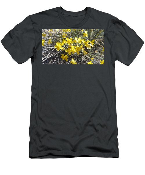 Men's T-Shirt (Slim Fit) featuring the photograph Wild Desert Flowers by Kume Bryant