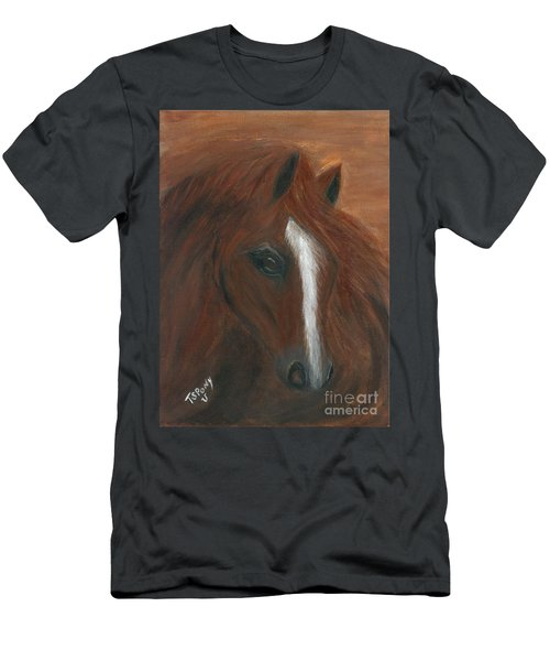 Men's T-Shirt (Slim Fit) featuring the painting Wildfire by Barbie Batson