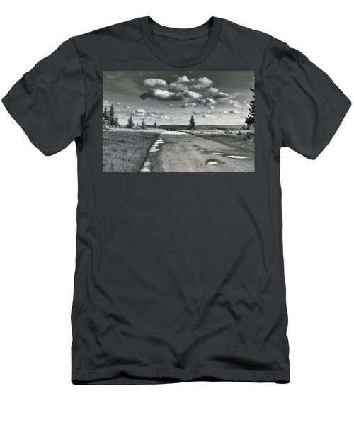 Men's T-Shirt (Slim Fit) featuring the photograph Winding Road by Mary Almond