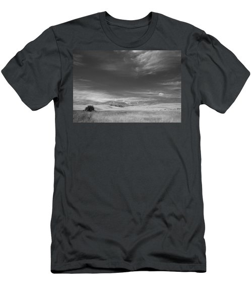 Men's T-Shirt (Slim Fit) featuring the photograph Windmills In The Distant Hills by Kathleen Grace