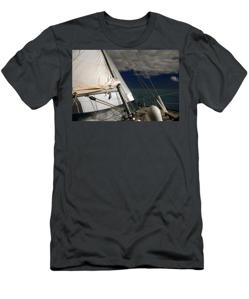 Windy Day Men's T-Shirt (Slim Fit) by Sally Weigand