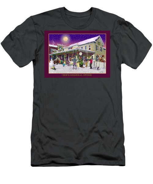 Winter At Zebs General Store In North Conway Nh Men's T-Shirt (Athletic Fit)