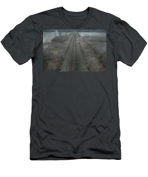Men's T-Shirt (Slim Fit) featuring the photograph Winter Tracks  by Neal Eslinger
