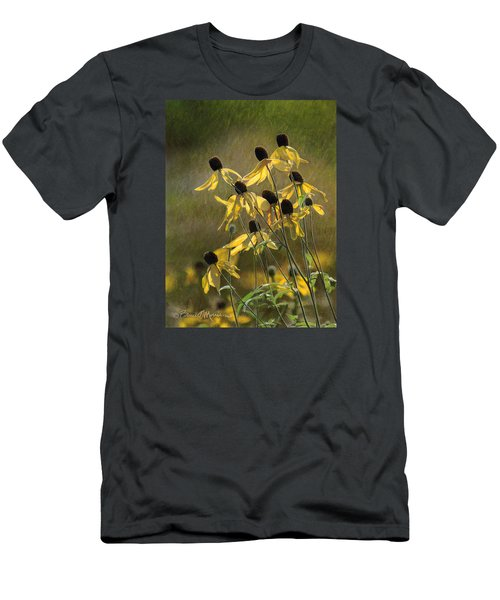 Yellow Coneflowers Men's T-Shirt (Athletic Fit)