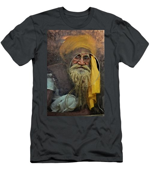 Yellow Turban At The Window Men's T-Shirt (Athletic Fit)