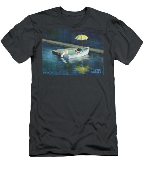 Yellow Umbrella Men's T-Shirt (Athletic Fit)
