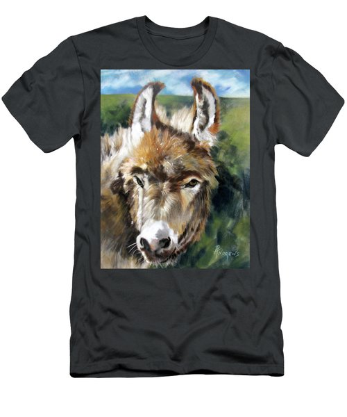 Men's T-Shirt (Slim Fit) featuring the painting You Want To Pin The Tail On The What by Rae Andrews