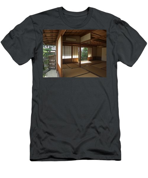 Zen Meditation Room Open To Garden - Kyoto Japan Men's T-Shirt (Athletic Fit)